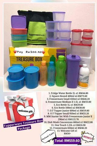 Tupperware Treasure Box member package - Free member fee