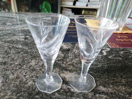 Vintage brandy crystal glass