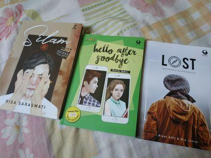 3in1 Novel Sulam by Risa Sarasvati, Hello After Goodbye, dan Lost