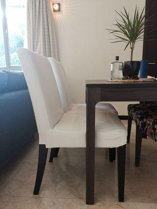 🚚 4x IKEA Henriksdal White Dining Chairs