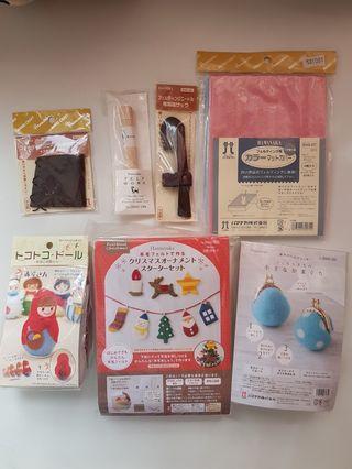 Needle felting craft supplies