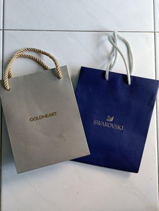 🚚 Swarovski/Goldheart Paper Bag with Free Mail