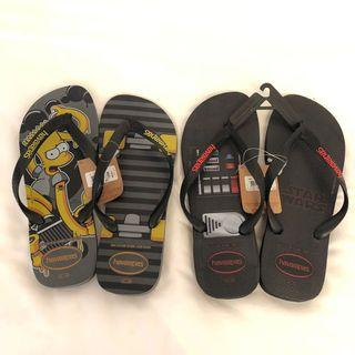 SALE BNWT Havaianas Slippers - Star Wars, Simpsons