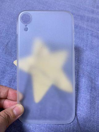 全新 透明磨沙 iPhone xr 電話殼 超薄裸機感