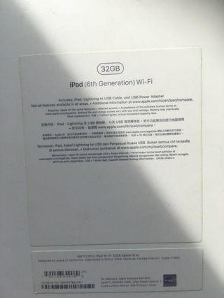 iPad 2018 32GB wifi