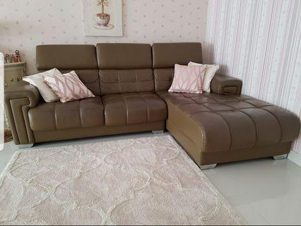 Leather L-Shaped Sofa