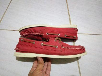 #BAPAU Sperry Top Sider Canvas Red Original With Box