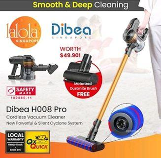 Dibea H008 Pro cordless vaccum cleaner, affordable alternative to Dyson