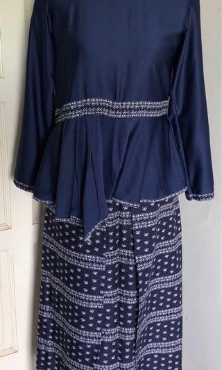 Preloved Blue baju raya