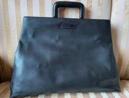 Trussardi Italian leather tote bag / brief case