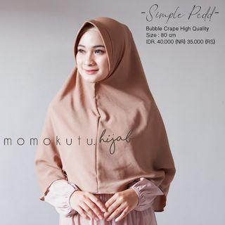Simple Pedd Hijab Khimar Instan