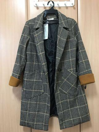 Plaid Korean Trench Coat