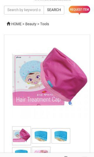 Hair treatment cap