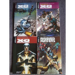 X-O Manowar vol 2, 5, 6 and Armor Hunters