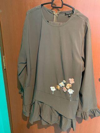 🚚 Baini Dark Grey Baju Kurung Modern (XXL or UK16)