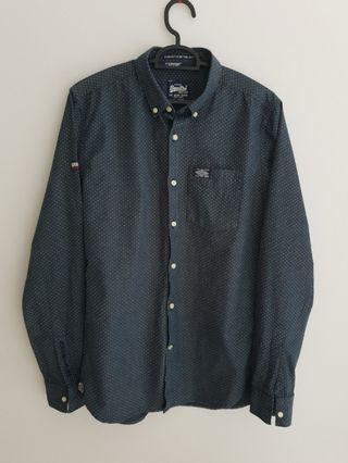 Superdry Vintage Dots Print Long Sleeve Shirt