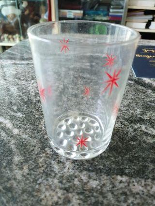 Vintage glasses with 8 stars engraved