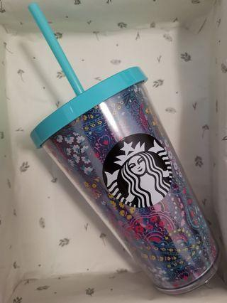 Starbucks limited edition cyan cold cup