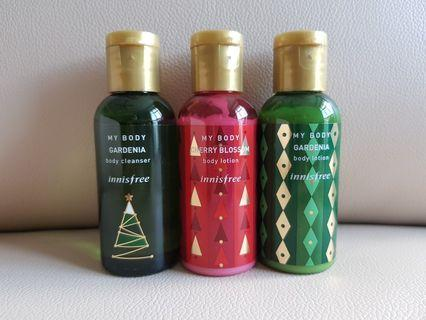 Innisfree Body Lotion & Cleanser
