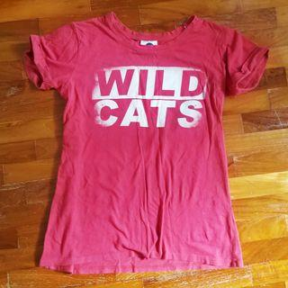 Cotton On Red Wild Cats Top