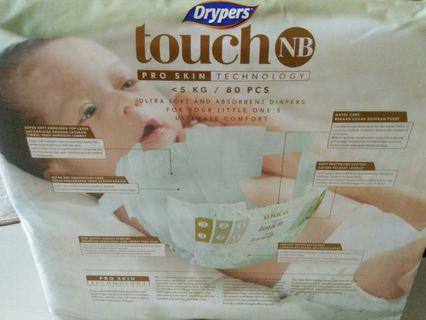 Drypers Touch NB 80s (3 pkt for sale)