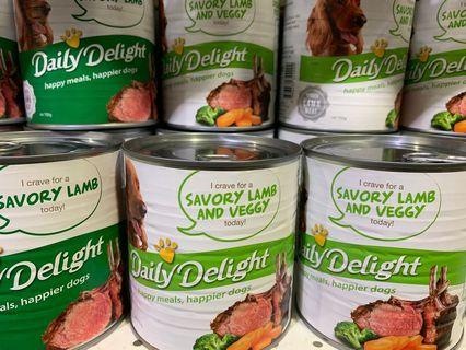 Selling Cheap! Dog Can Food - 700grams Huge Cans -DAILY DELIGHTS Minimum purchase: 12 cans