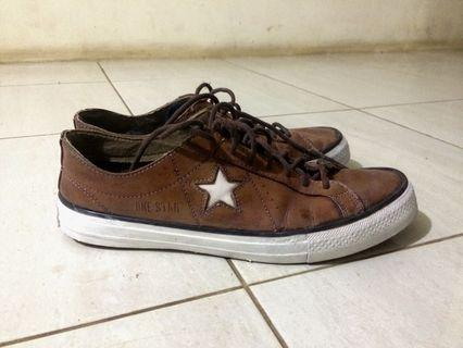 converse one star leather made by man bukan pabrik