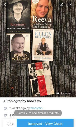Autobiography books x4