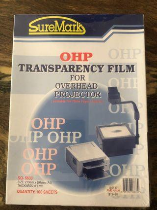 🚚 OHP transparency film 100 sheets