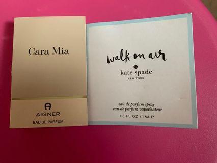 < Bundle Deal > - Cara Mia Aigner / Kate Spade Walk on Air Perfume Parfum Travel / Sample / Trial