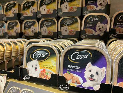 Selling Cheap! CESAR Tray/Dog Can Food - 100grams. Minimum purchase: 24 cans, you can mix!