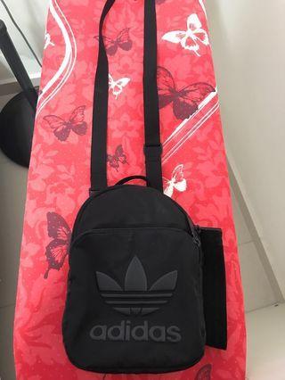 Authentic mini nylon Adidas backpack/ sling
