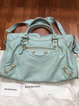Balenciaga classic city in green mint colour