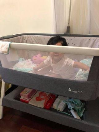 AZZURRA 豪華多功能嬰兒床(可當床邊床)