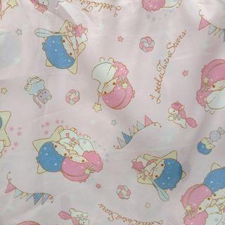 🈹Little Twin Stars 床笠+枕套2件套 兒童嬰兒BB床 夏天透薄純棉床笠 床單 四邊有橡筋120 X 70cm 全新已剪標