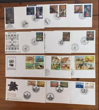 🚚 Whole Year of 1995 United Nations FDC's