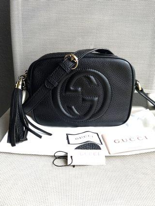 🚚 Leather Gucci Soho Disco Bag