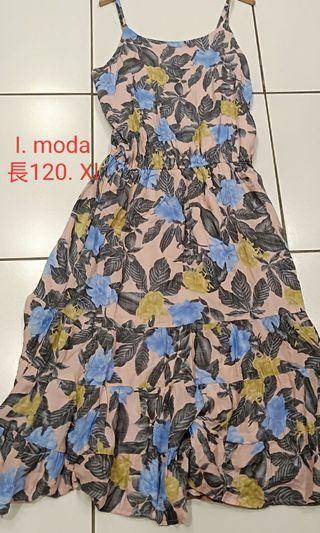 I. Moda  海灘花長洋裝Xl