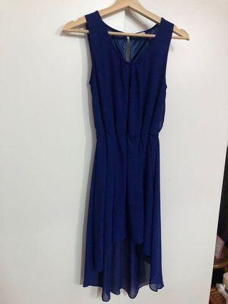 Electric Blue Fishtail dress