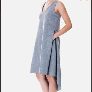 🚚 Beyond the Vines Side Pleat Dress in Grey