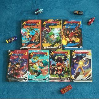 Boboiboy Galaxy Complete Set. Like New. Perfect Condition. Great as birthday gift.
