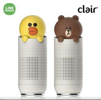 韓國Line friends x clair air purifier 便攜式空氣淨化器