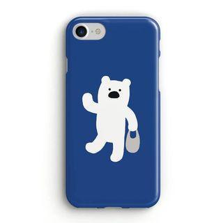 北極熊白熊動物圖案全包手機殼軟殼 Apple iPhone case