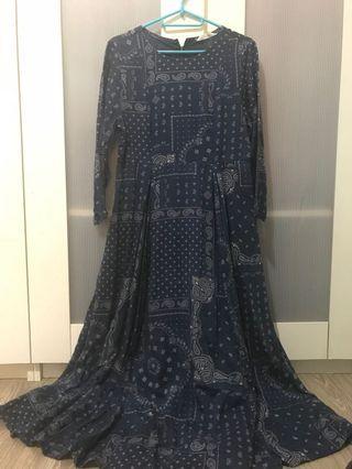 Aztec Navy Blue Dress