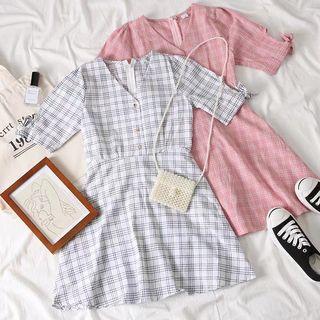 Owen Checkered A-line Dress