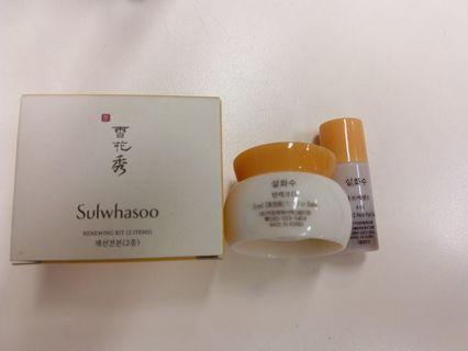 全新 雪花秀 Sulwhasoo Renewing Kit sample (2 items) Made in Korea 包郵
