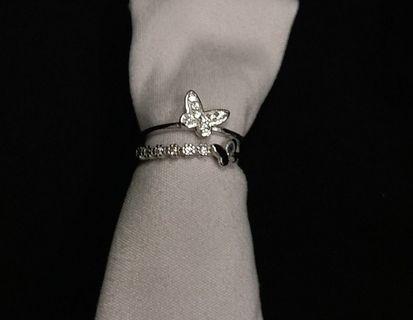 全新 S925 純銀 仿鑽 戒指 Sterling Silver Diamond Ring