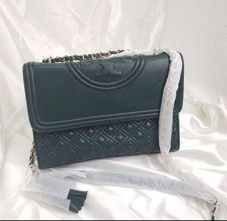 NEW Tory Burch Fleming Convertible Green Authentic