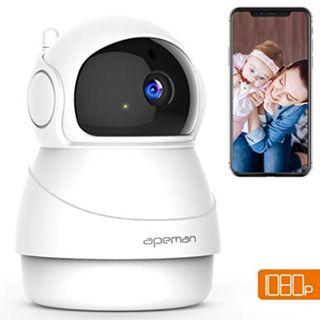 HD 1080 Wifi IP Camera, 2 Way Audio, Night Vision, Wide Angle Auto-Cruise, Motion Detection (APEMAN)