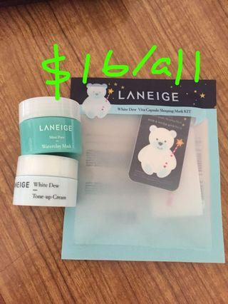 (Clearance 清貨) Laneige white dew face cream / sleeping mask / Waterclay Mask #MTRcentral